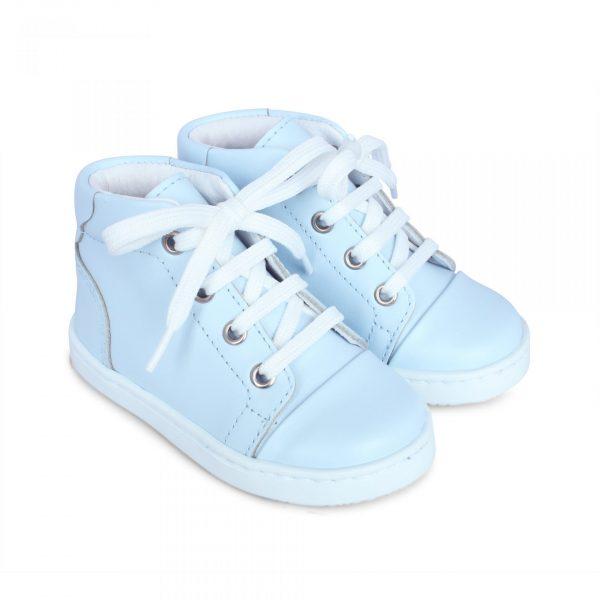 Danilo Pale Blue Leather Boots