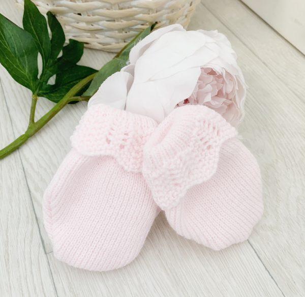 Baby Girls Pink Mittens