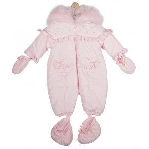 Baby Girls Pink Padded Snow Suit