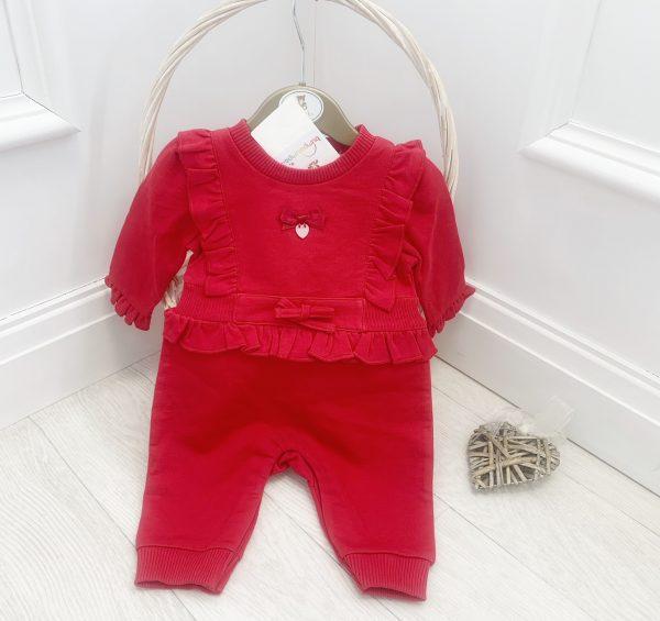 Baby Girls Red Mintini Onesie