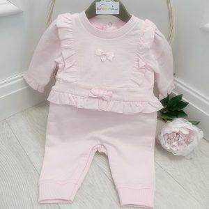 Mintini Baby Girls Pink Onesie