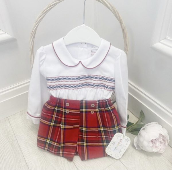 Red & White Tartan 2 Piece Outfit