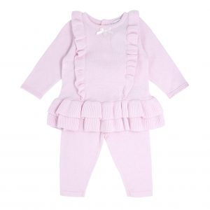 Blues Baby Pink Frilly 2 Piece Set